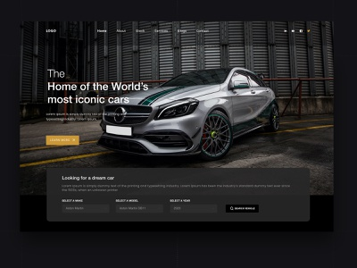 Car Rental dark ui website webdesign car rental app modern design minimal