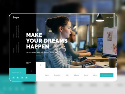 Modern Template Design ui website concept minimal web template web design website design modern