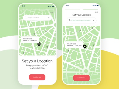 Find Location App app screen app design map mobile app mobile ui ux ui modern design minimal