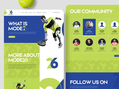 26 MODE Website UI Design homepage landingpage ux modern minimal webdesign website branding