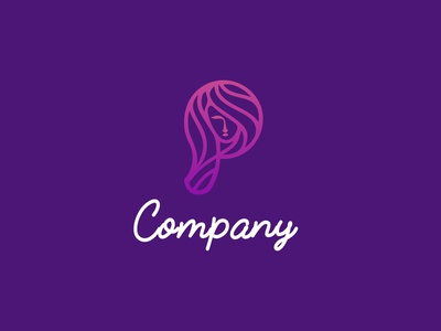 Beauty logo mobile app simple minimalist minimalism design brand identity gradient digital modern abstract icon logo brand beauty logo spa haircut hairstyle p ladies beauty