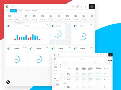 Cirrus 2 Prototype app blue infographics design dashboard ui ux crm