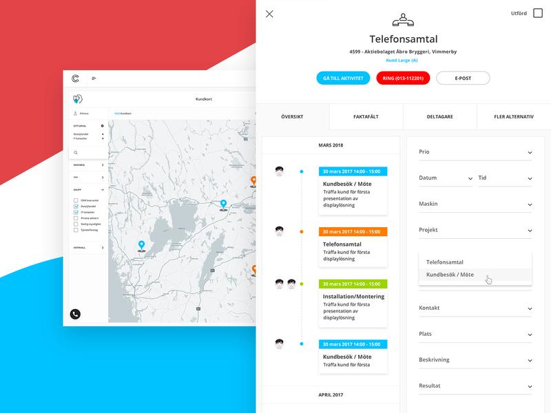 Cirrus 2 Prototype blue app infographics design dashboard ui ux activities crm map