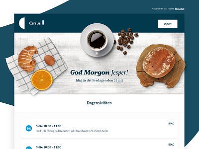 Cirrus 2 Newsletter infographics app mail design ui newsletter crm