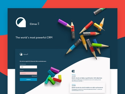 Cirrus 2 Login listing sas system admin api list stats dashboard infographics crm design ux ui