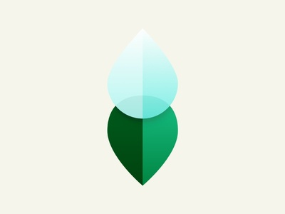 Happy Flower icon integration leaf water plant iot