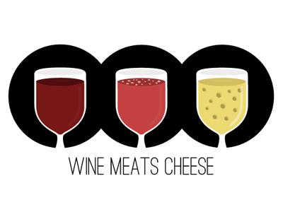 Logo for Wine Meats Cheese logo logo design