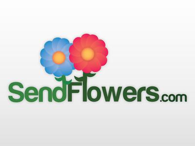 SendFlowers.com Logo logo logo design