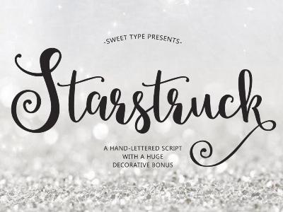 Starstruck Hand-lettered Script calligraphy lettering typography typeface script font
