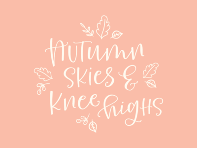 Autumn Lettering type hand made hand lettered typography script type design calligraphy fonts font lettering