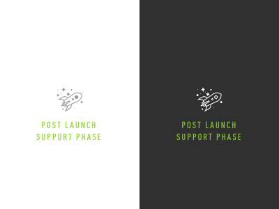 Post Launch Support Phase icon process internal