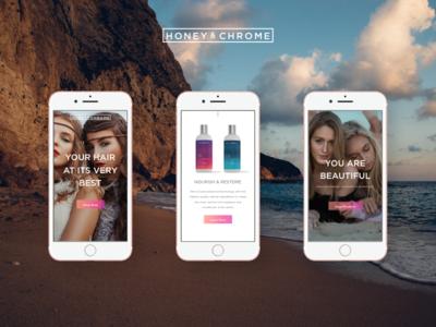 Honey & Chrome Mobile View