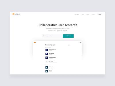 📙 Talebook.io 2.0 - Landing Page landing landingpage research gif charts website clean app web ux ui