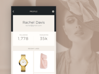 Celebrity Fashion App – Profile View