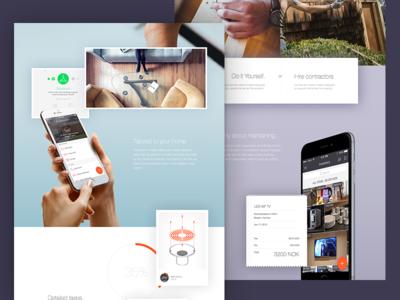 eVici Landing Page  responsive mobile app shadows pastels website landing page material design