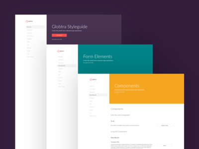 globtra – Styleguide ui kit guide style icons color kit ui web styleguide