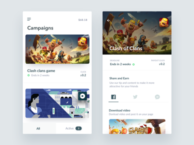 Adcamp  – Campaigns Mobile View