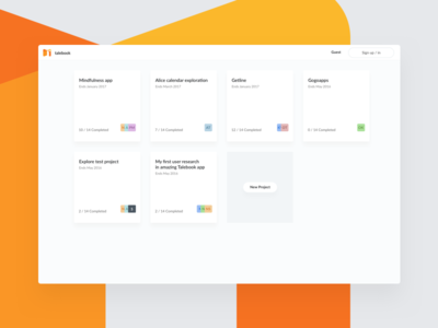 Talebook – Projects Dashboard ui web light white simple dashboard projects ux talebook