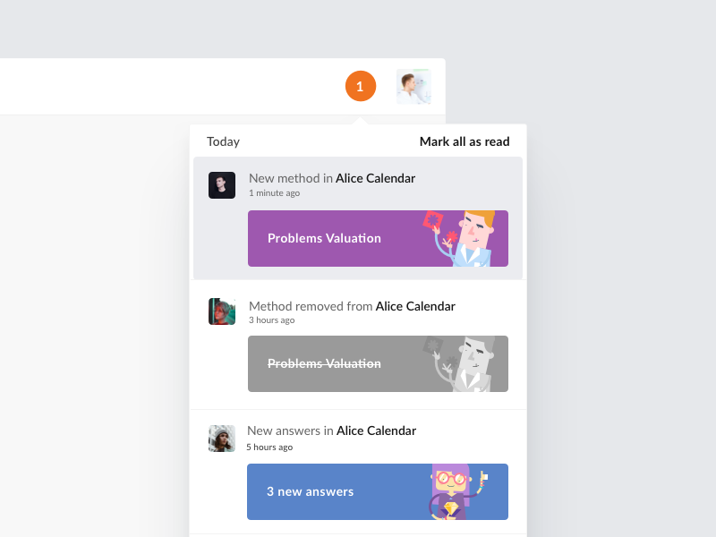Talebook – Notifications talebook social news ui ux web feed notification notifications