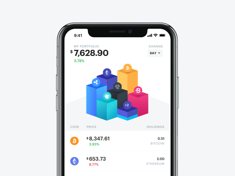 Bloko.io – Bitcoin & Altcoin Portfolio tracker cryptocurrency wallet ios interface blocks chart exploration crypto bitcoin