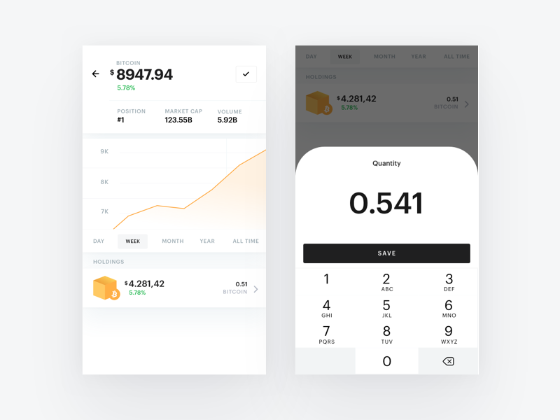 Bloko.io – Coin Details bitcoin crypto exploration chart blocks interface ios wallet cryptocurrency