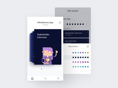 Talebook Mobile Themes personalization personalised personal themes whitespace clean homepage projects dashboard timeline calendar ios ui ux mobile