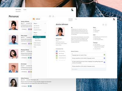 Talebook – Revamped Personas process notepad web clean personas persona ux ui