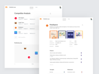 Talebook – Competitor Analysis charts positioning chart statistics ux ui app clean web
