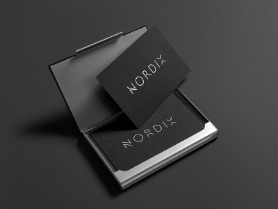 Nordix - Logo / Business Card Design business card logo branding identity product design package design label design graphic design design branding