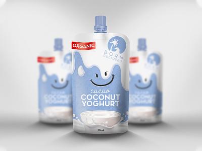Coconut Yoghurt - Product Package Design yoghurt label logo illustration branding identity product design package design label design graphic design design branding yoghurt yoghurt package