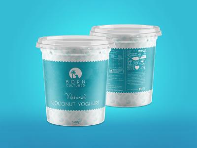 Born Cultured Yoghurt - Product Package Design yoghurt product yoghurt label yoghurt label design yoghurt design logo illustration branding identity product design package design label design graphic design design branding