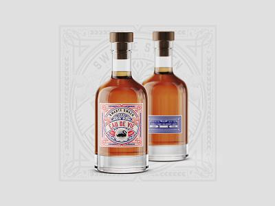 Swarte Swaen - Bottle Label Design bottle label bottle package bottle design logo illustration branding identity product design package design label design graphic design design branding