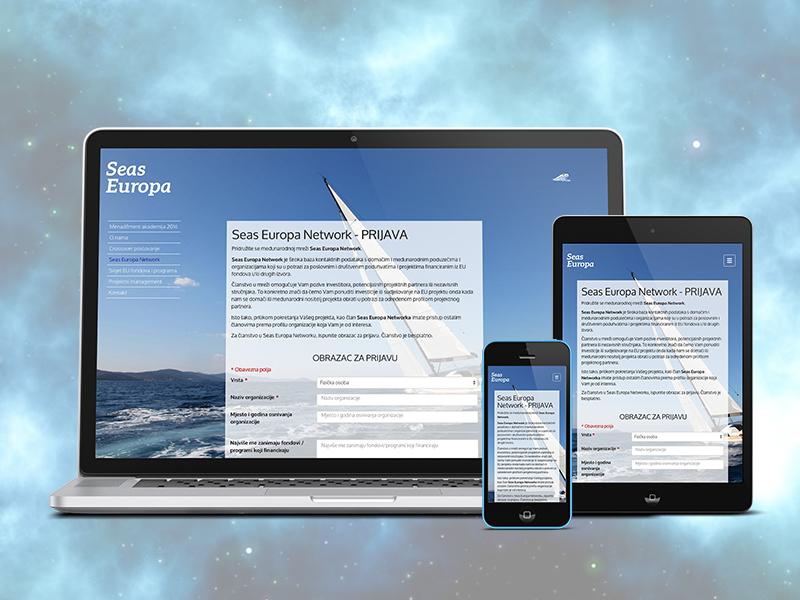 Seas Europa Website html design photoshop indesign brochure animation illustrator bootstrap sass css web design