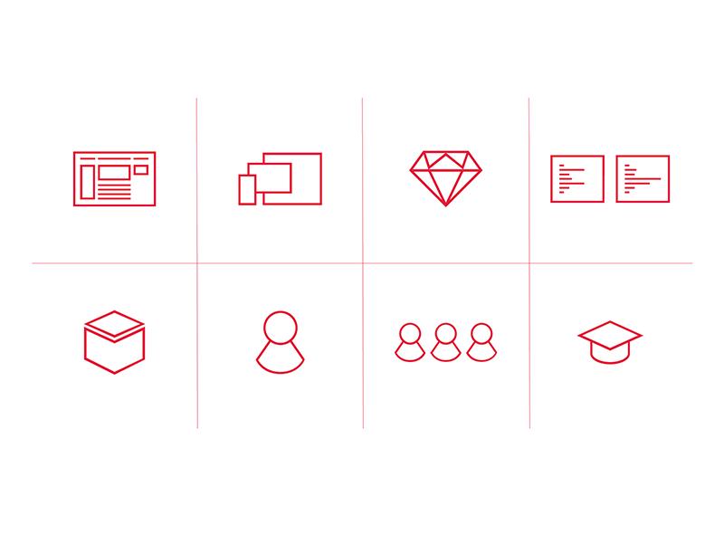 Refactorit Services Icons refactorit web design vector design icon