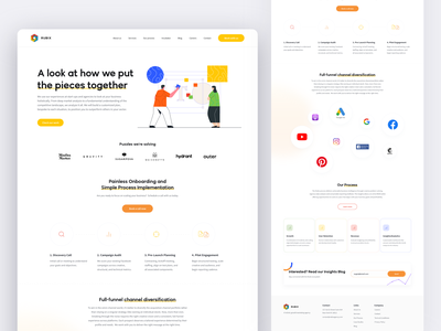 Rubix Agency – Our Process page minimal web app ux illustration ui branding and identity typography design branding