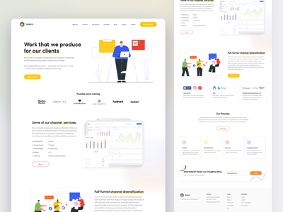 Rubix Agency – Our Work page minimal web app ux illustration ui branding and identity typography design branding