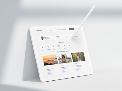 Wellness-On // Detail pages // 2020 web app ux ui branding and identity typography design branding