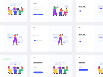 Rubix Insights - Login and signup pages signup page login page saas design saas app saas