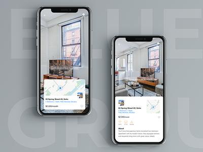 Blueground AR application - concept renting rentals rental rental app ar app augmentedreality augmented reality