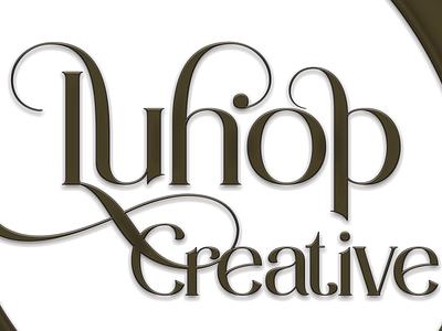 Luhop Creative Logo motion graphics 3d graphic design logo