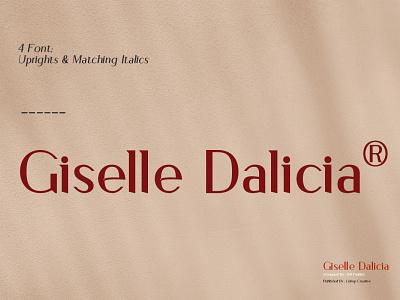 Giselle Dalicia Font ui illustration 3d motion graphics font branding design serif font logo font serif graphic design
