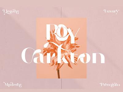 Roy Carkton typography illustration vector menu restaurant fonts beautiful fonts font serif serif branding motion graphics logo design serif font font f graphic design