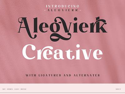 Alegvierk Serif ui vector motion graphics illustration design serif font font seri logo branding graphic design