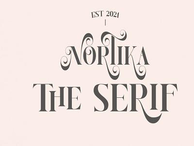 Nortika Serif Font letter graphic design typeface