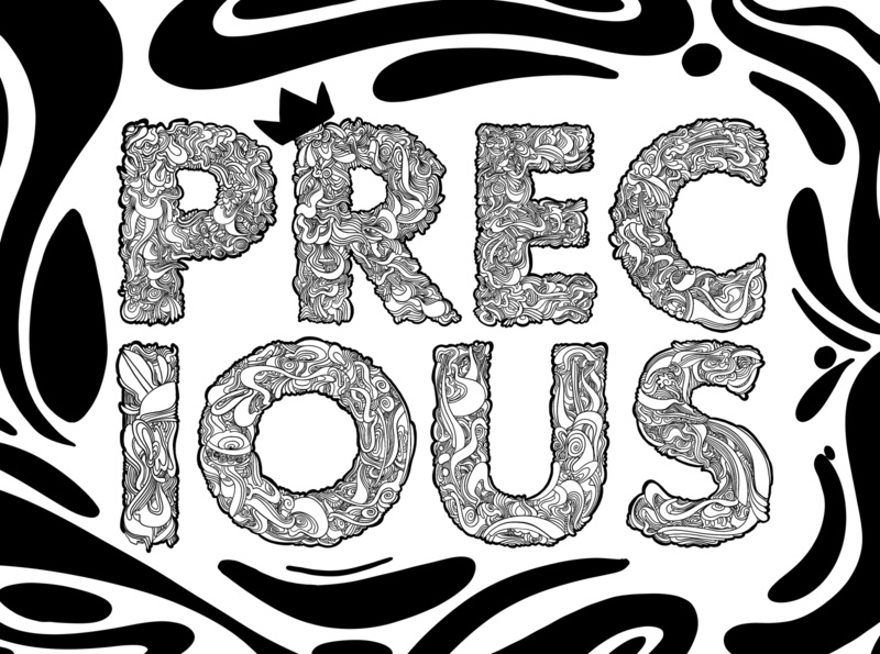 precious digital illustration digital art procreate typography poster typography art typographic design typography type