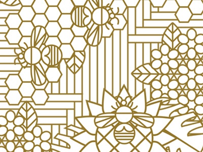 May Bees simple line animals illustration