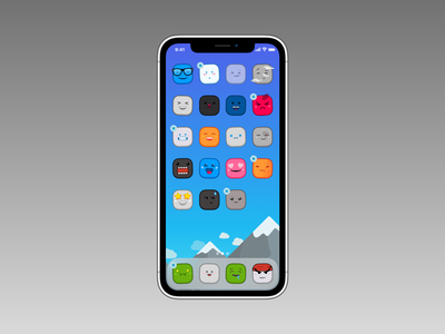 Cuddled iPhone ios cartoon cute iphone icons weather up