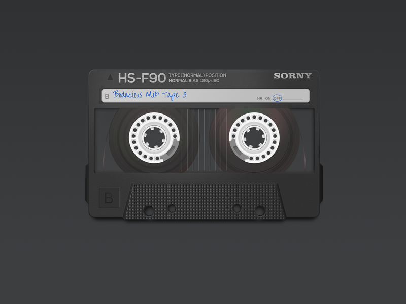 Bodacious Mix Tape 3 icons design 80s casette dock icons icons macos icon