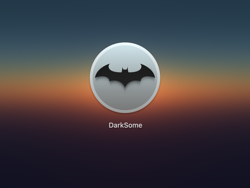 DarkSome batman night mode darksome macos icons macos icons
