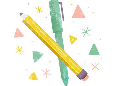 Pastel Spot Illustration pen pencil icons icon design logo digital illustration digital robin sheldon illustration